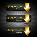 Dark Premium Download Buttons Vector