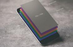 Layered iPhone 7 PSD Mockup