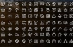 100+ Thin Line Icons Vector
