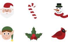 12 Flat Christmas Icons SVG