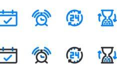 8 Calendar Icons Vector