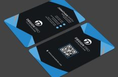 Modern Rounded Business Card PSD Mock-ups