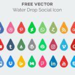 Water Drop Social Media Icon Vector