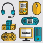 Flat Video Game Vector Elements