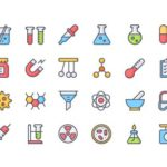 24 Colorful Chemistry Icons (AI+SVG+PNG)