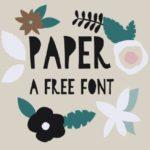 Paper Cut Typeface