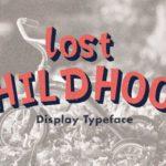 Lost Childhood Display Font