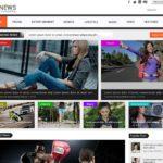 Newspaper / Magazine Web Template PSD