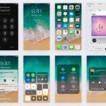 Apple iOS 11 GUI Kit