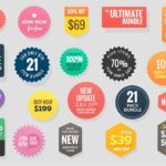 Call To Action Badge Set PSD