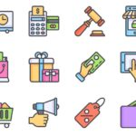 12 Flat E-commerce Vector Icons