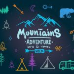 Colorful Camping Icons Vector