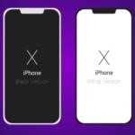 Flat Dark / Light iPhone X Vector Template