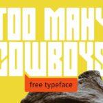 TOO MANY COWBOYS Typeface