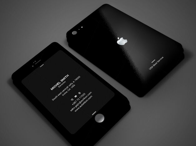 Free Dark IPhone Style Business Card Template