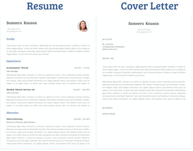 free minimal clean resume cover letter template titanui